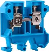 Клемма на дин-рейку 6 мм кв, синий, без крышки, e.tc.din.pro.6.blue Enext p049026
