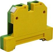 Клемма заземления на дин-рейку 4 мм кв, желто-зеленый, e.tc.z.din.pro.4 Enext p050002