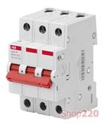 Выключатель нагрузки 63А, 3 фазы, BMD51363 ABB