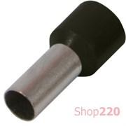 Наконечник втулочный (гильза) 0,5 мм кв, черный e.terminal.stand.e0508.black Enext s3036003