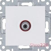 Розетка спутниковая, белый, Hager Lumina WL3230