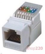 Модуль KeyStone RJ-45 UTP, кат.5е, SLIM, Hager Lumina WL9002