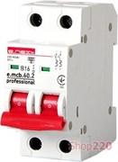 Автоматический выключатель 16А, 2-полюсный, хар-ка В, e.mcb.pro.60.2.B 16 new p041017 E.NEXT