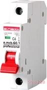 Автоматический выключатель 6А, 1-фазный, хар-ка С, e.mcb.pro.60.1.С 6 new p042006 E.NEXT