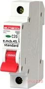 Автоматический выключатель 20А, 1-фазный, хар-ка С, e.mcb.stand.45.1.C20 s002009 E.NEXT