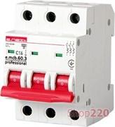 Автоматический выключатель 16А, 3-фазный, хар-ка С, e.mcb.pro.60.3.С 16 new p042031 E.NEXT