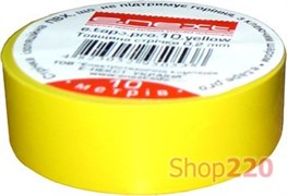 Изолента e.tape.stand.20.yellow, желтая (20м)