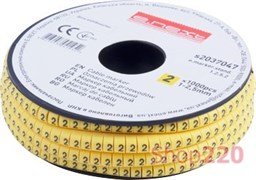Маркер кабельный цифра 2, e.marker.stand.1.2.5.2 Enext s2037047