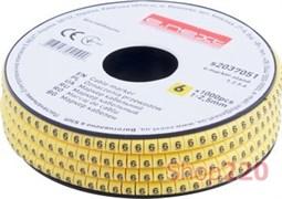Маркер кабельный цифра 6, e.marker.stand.1.2.5.6 Enext s2037051