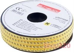 Маркер кабельный буква N, e.marker.stand.1.2.5.N Enext s2037058