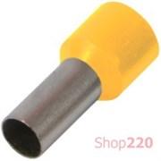 Наконечник втулочный (гильза) 1.5 мм кв, желтый Enext s3036023