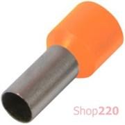 Наконечник втулочный (гильза) 1.5 мм кв, оранжевый Enext s3036028