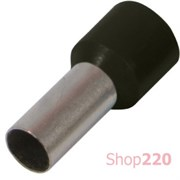 Наконечник втулочный (гильза) 2.5 мм кв, черный Enext s3036031