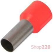 Наконечник втулочный (гильза) 4 мм кв, красный Enext s3036036