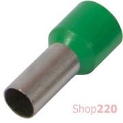 Наконечник втулочный (гильза) 1 мм кв, удлиненный, зеленый Enext s3036050
