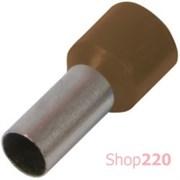 Наконечник втулочный (гильза) 10 мм кв, коричневый Enext s3036051