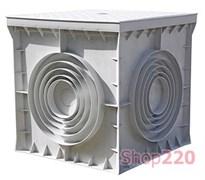 Колодец кабельный пластиковый 200х200х200 мм с крышкой, e.manhole.200.200.200.cover Enext CP202020