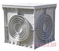 Колодец кабельный пластиковый 300х300х300 мм с крышкой, e.manhole.300.300.300.cover Enext CP303030