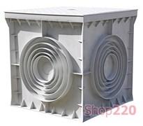 Колодец кабельный пластиковый 550х550х500 мм с крышкой, e.manhole.550.550.500.cover Enext CP555550
