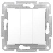 Выключатель 3-х клавишный, белый, SDN0300621 Sedna Schneider