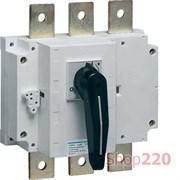 Выключатель нагрузки 630А корпусный, 3-х фазный, HA358 Hager