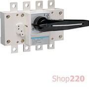Выключатель нагрузки 200А корпусный, 3 фазы + ноль, HA453 Hager