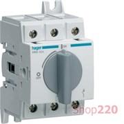 Выключатель нагрузки 63 А модульный, 3 фазы, HAB306 Hager