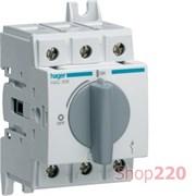 Выключатель нагрузки 80 А поворотный, 3 фазы, HAC308 Hager