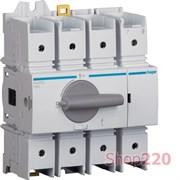 Выключатель нагрузки 125 А поворотный, 4 полюса, HAD412 Hager