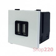 Розетка USB для зарядки, белый, Zenit ABB