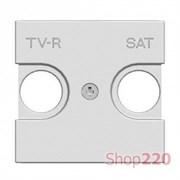 Накладка розетки TV+R/SAT, белый, Zenit ABB