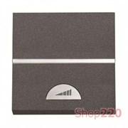 Диммер кнопочный 500Вт для ламп накаливания, антрацит, Zenit ABB N2260.1 AN