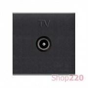 Розетка ТВ, антрацит, Zenit ABB N2250.7 AN