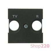 Накладка розетки TV+R, антрацит, Zenit ABB N2250.8 AN