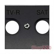 Накладка розетки TV+R/SAT, антрацит, Zenit ABB N2250.1 AN