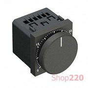 Терморегулятор с датчиком температуры пола, антрацит, Zenit ABB N2240.3 AN