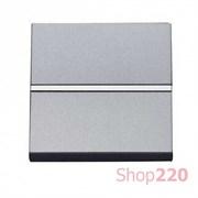 Выключатель 1-клавишный проходной, серебристый, Zenit ABB N2202 PL