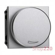 Диммер поворотный 100Вт для LED ламп, серебристый, Zenit ABB N2260.3 PL