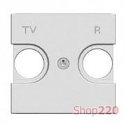 Накладка розетки TV+R, серебристый, Zenit ABB N2250.8 PL