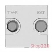 Накладка розетки TV+R/SAT, серебристый, Zenit ABB N2250.1 PL