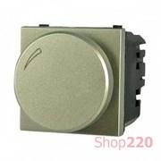 Диммер поворотный 100Вт для LED ламп, шампань, Zenit ABB N2260.3 CV