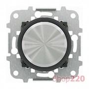 Накладка поворотного диммера, хром/черное стекло, Sky Moon ABB
