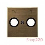 Накладка телевизионной розетки, золото, Sky ABB 8550 OE