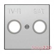 Накладка телевизионной спутниковой розетки, серебряный, Sky ABB 8550.1 PL