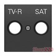 Накладка телевизионной спутниковой розетки, черный бархат, Sky ABB 8550.1 NS