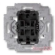 Выключатель 2-клавишный проходной, Levit ABB 3559-A52445