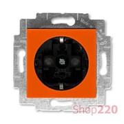 Розетка с заземлением и шторками, оранжевый, Levit ABB 5520H-A03457 66