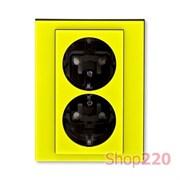 Розетка электрическая двойная, желтый, Levit ABB 5522H-C03457 64
