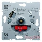 Поворотный диммер 100 Вт для светодиодных ламп с мягкой регулировкой, Berker 2873