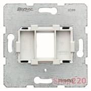 Опорная пластина для модулей Keystone с белой вставкой, одинарная, Berker 454002